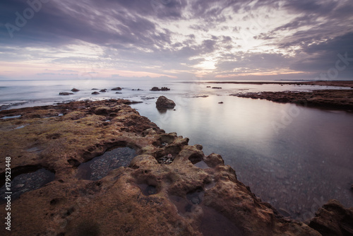 Fotobehang Zee zonsondergang Beautiful Sunset Landscape