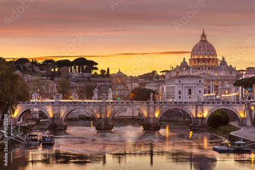 Aluminium Landschappen La ville de Rome