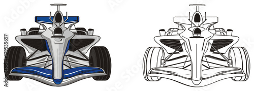 Plexiglas F1 bolid, car, formula, formula one, race, cartoon, illustration, speed, two, different