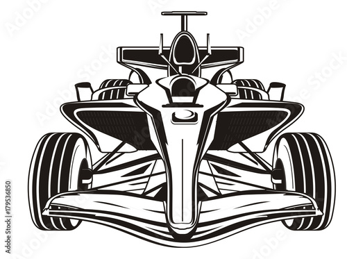 Foto Spatwand F1 bolid, car, formula, formula one, race, cartoon, illustration, speed, black, black and white, not colored