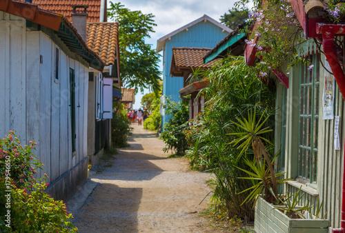 Maison colorée du village du Canon Bassin d'Arcachon