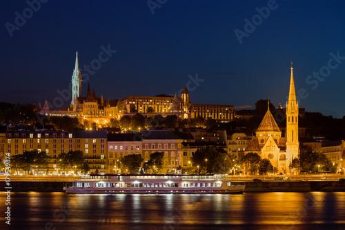 Papiers peints Budapest Budapest By Night Buda Side Skyline in Hungary