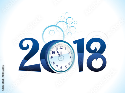 Fototapeta abstract artistic blue new year text
