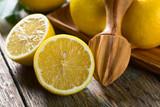 Juicy ripe lemons .