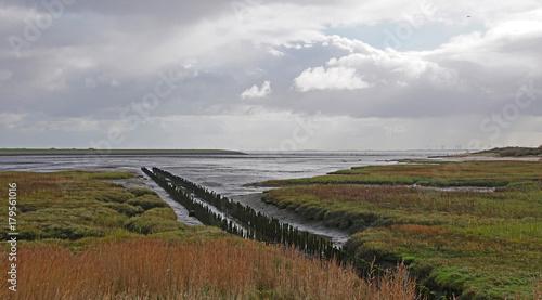 Aluminium Noordzee Ebbe auf Norderney 2