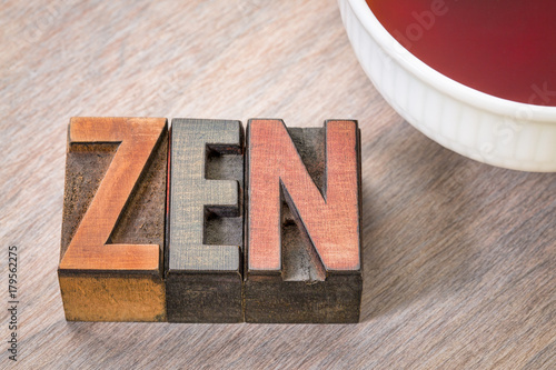 Fotobehang Zen zen word abstract in wood type