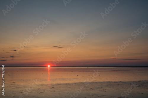 Fotobehang Noordzee Sunset over the North Sea