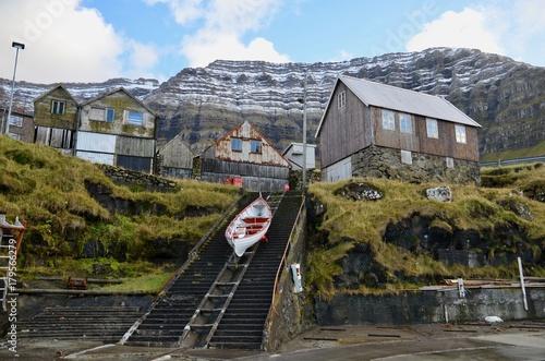 Papiers peints Voies ferrées フェロー諸島 Faroe Islands クノイ島 Kunoy Island クノイ Kunoy