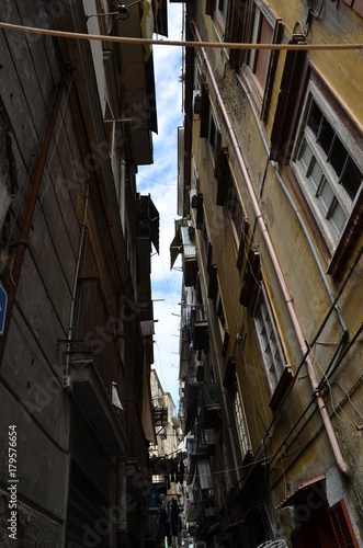 Poster Smal steegje Napoli