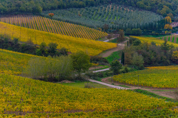 Tuscan countryside in autumn