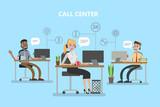 Call Center Office Wall Sticker