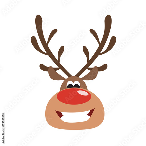 Isolated christmas deer.