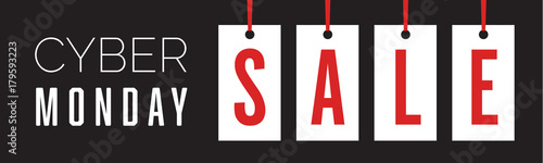 Cyber Monday Hang Tag Holiday Sale Banner Vector Illustration 2
