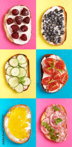 sweet and savory toasts