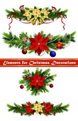 Christmas elements for your designs © bastinda18
