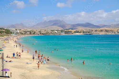 Deurstickers Canarische Eilanden Beach Costa Calma on Fuerteventura, Spain.