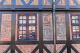 Detail of a half timbered medieval house in Malmo, Sweden.