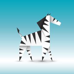 zebra origami wektor