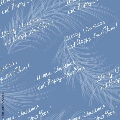 seamless inscription Merry Christmas