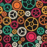 Colored clockwork seamless texture