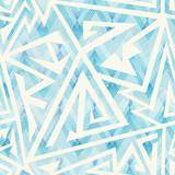 Ice color geometric seamless pattern