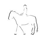 Horse rider silhouette icon