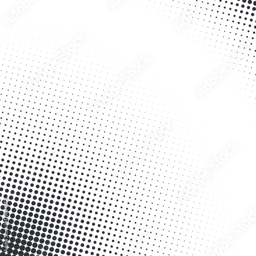 Fotobehang Pop Art Grunge halftone textured pattern with dots. Vector pop art dotted halftone gradient design element. Dots abstract template background