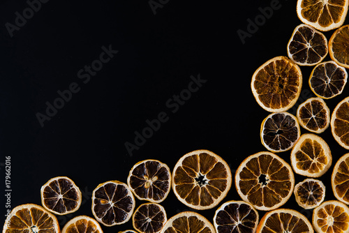 Abstract background of dried orange slices - 179662016