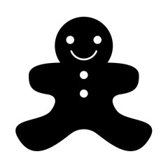 Christmas cookie it is black icon .