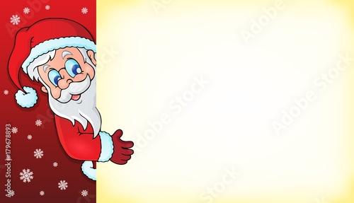 Papiers peints Enfants Lurking Santa Claus with copyspace 3