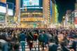 Pedestrians crosswalk at Shibuya Tokyo