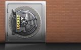 3d metal safe locked vault door