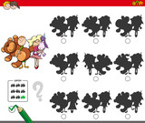 educational shadow game with kids and toys - 179689005