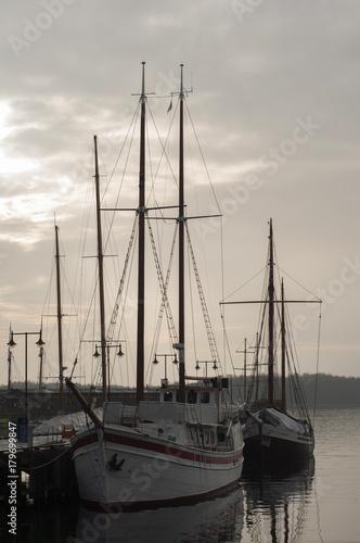 Keuken foto achterwand Schip Old sailing ship on the Oslo