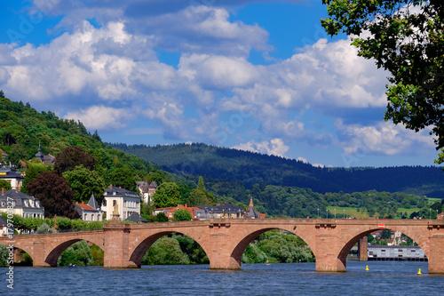 Leinwanddruck Bild Alte Brücke in Heidelberg