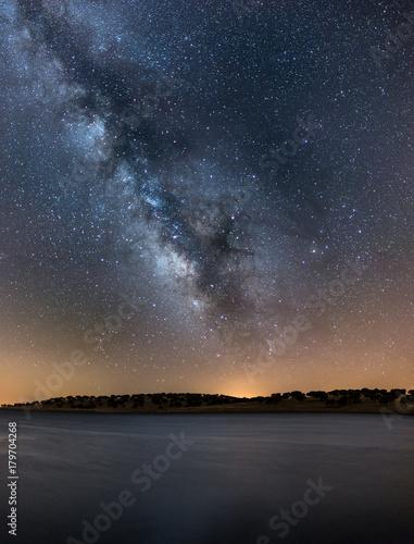 Foto op Canvas Zee zonsondergang Via Láctea