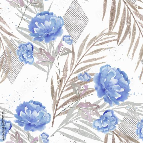 kwiatowy-wzor-niebieskie-kwiaty-na-bialym-b