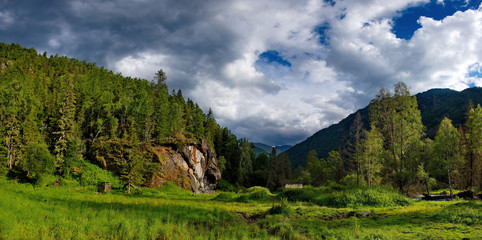 Summer on the rivers of Mountain Altai