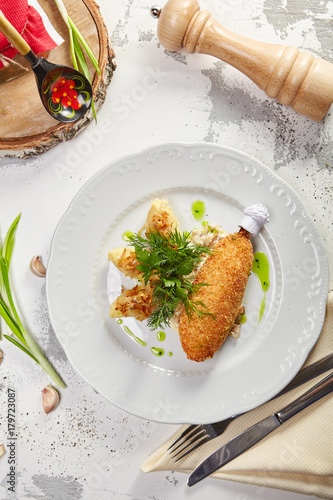 Foto op Plexiglas Kiev Gastronomic menu of luxury restaurant
