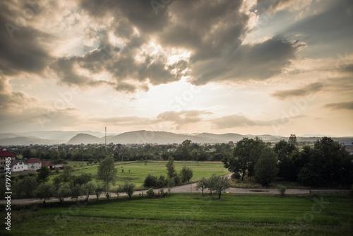 Foto op Plexiglas Beige summer view
