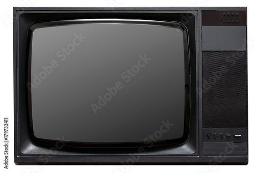 Television isolated on white