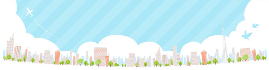 Townscape back image illustration_skyline wide
