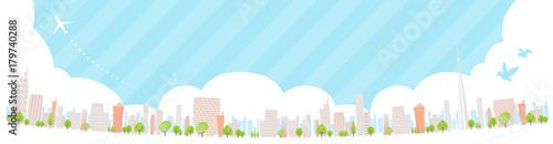 Obraz na płótnie Townscape back image illustration_skyline wide