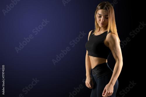 Sporty beautiful woman