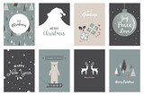 Merry Christmas cards, illustrations and icons, lettering design collection- no 5