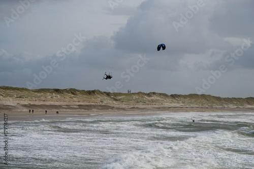 Kitesurfer Nordsee Dänemark Poster