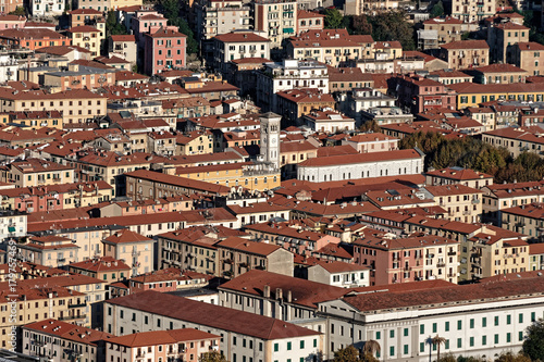 Foto op Canvas Liguria aerialview of la spezia from a hill