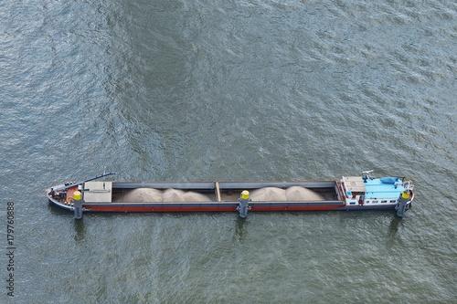 Keuken foto achterwand Schip Barge from above