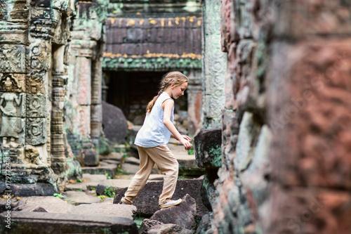 Child in Preah Khan temple