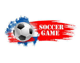 Soccer game team club football ball vector icon